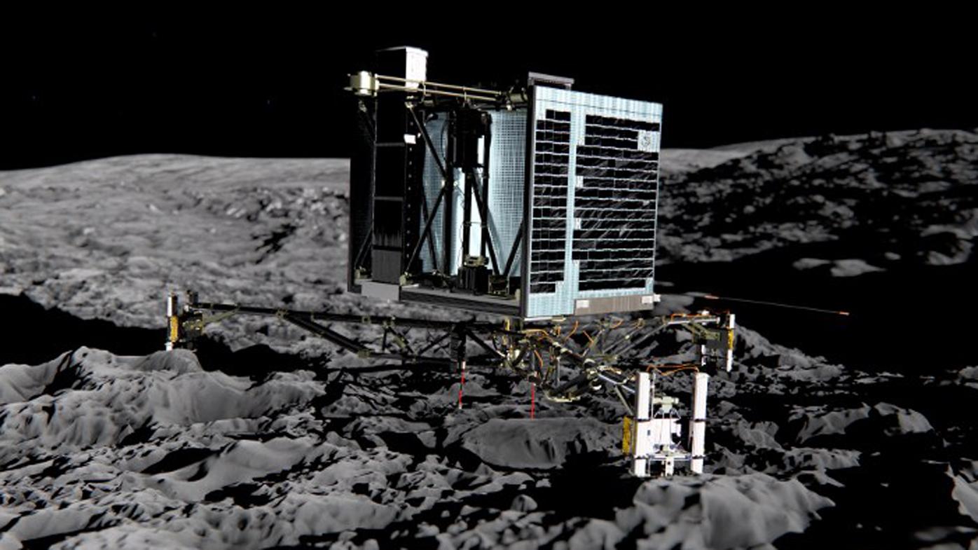 An artist's impression of Rosetta's lander Philae. (AFP)