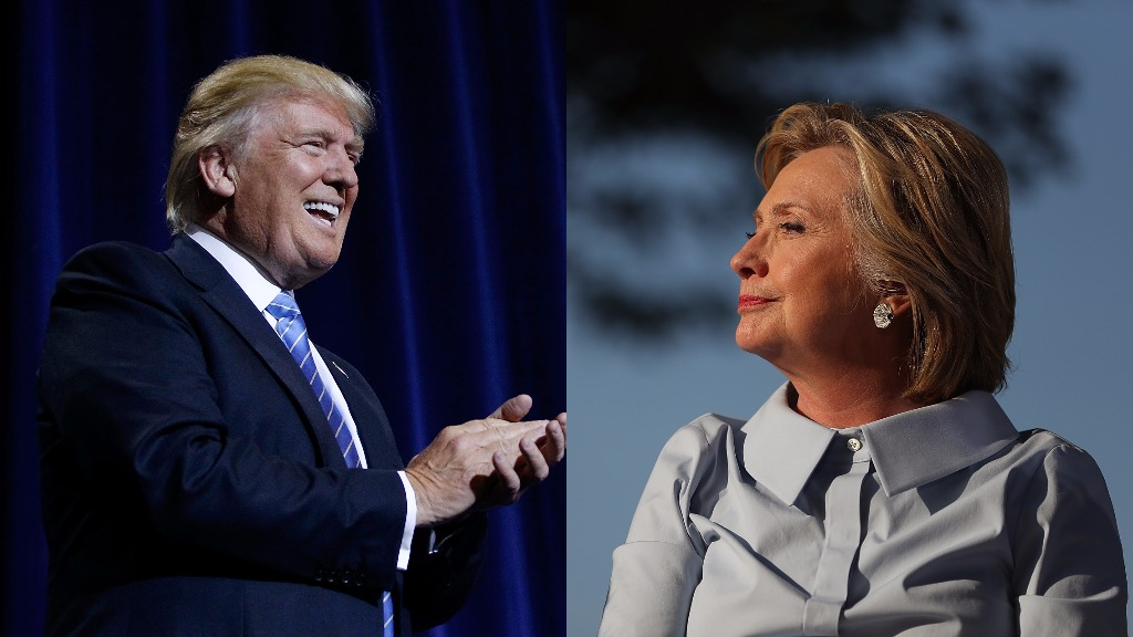 Trump closes in on Clinton as US election day looms