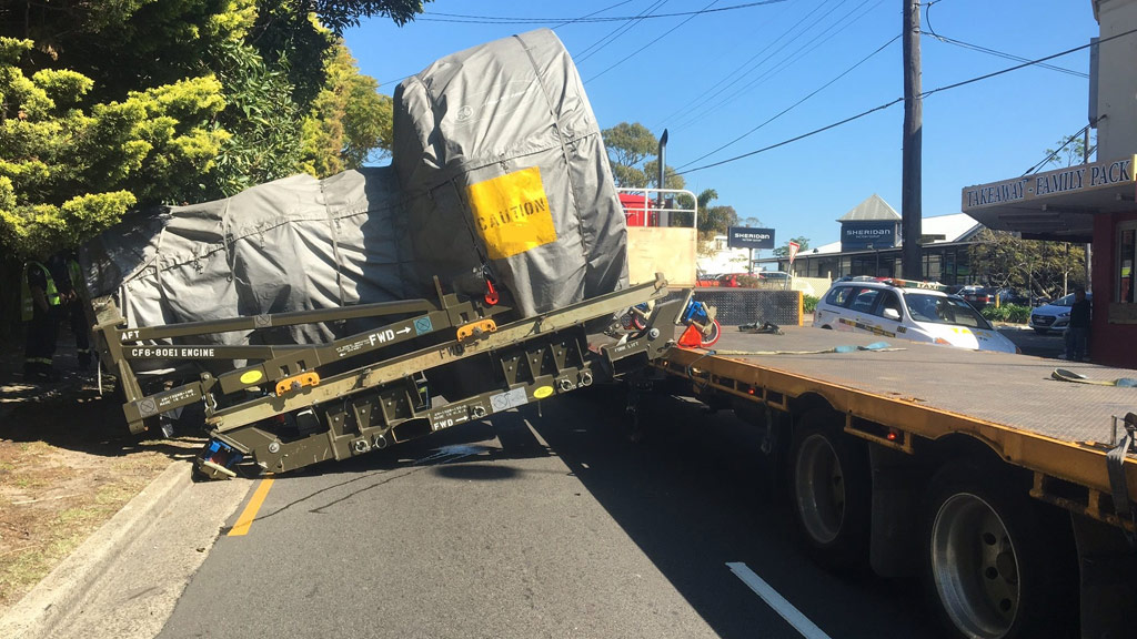 Aircraft engine falls off truck, causes severe delays in Arncliffe