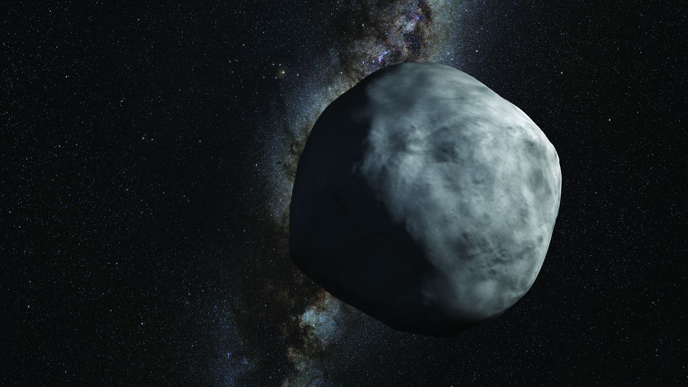 An artist's impression of the asteroid Bennu, which is 500m across at its widest point. (Image: NASA)