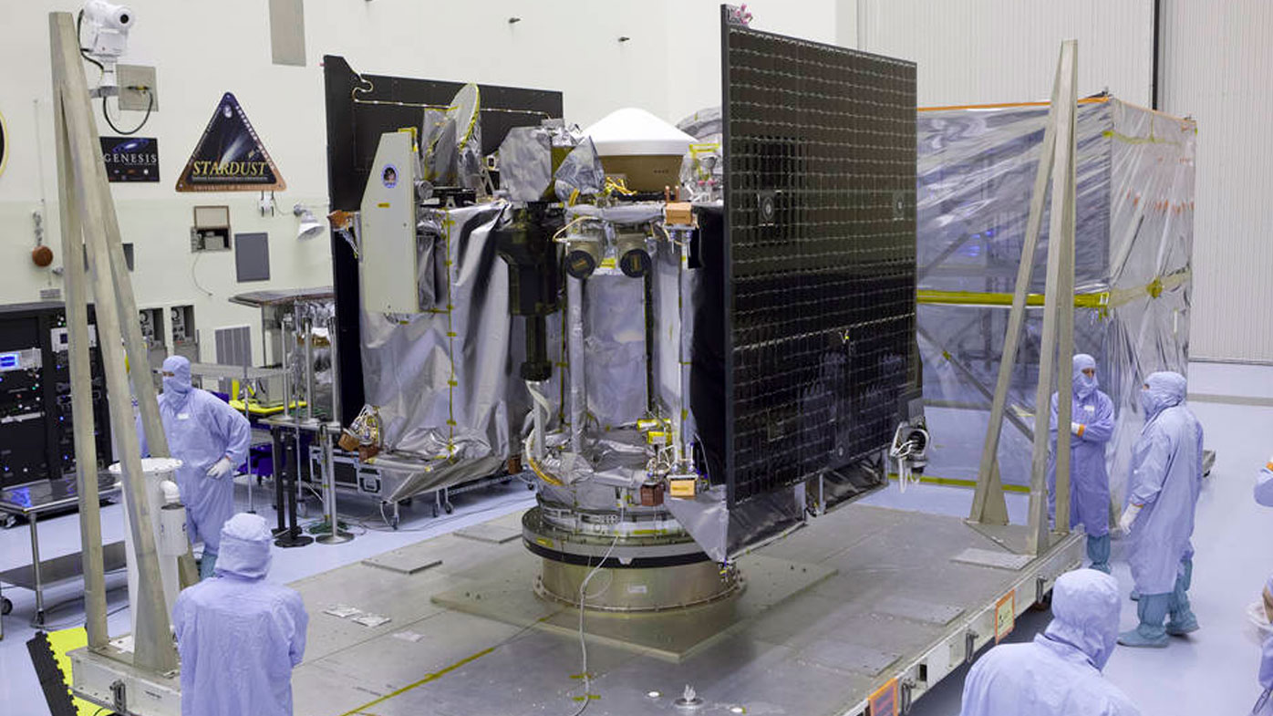 The probe's solar arrays are tested in NASA's Kennedy Space Centre in Florida. (Image: NASA)