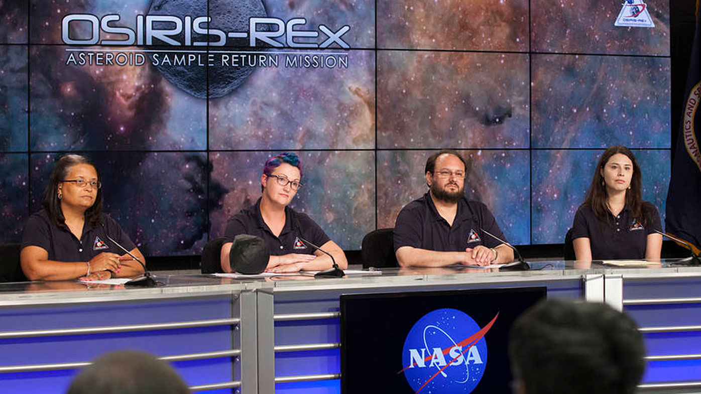 The NASA team behind the Osiris-Rex mission. (Image: NASA)
