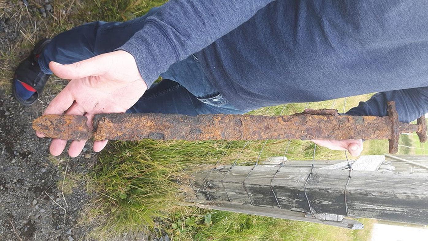 Goose hunters dig up 1000-year-old Viking sword