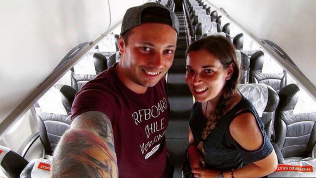 Couple realise they're the only two passengers on board commercial Asia flight