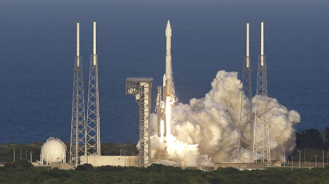 NASA spacecraft blasts off to collect asteroid dust