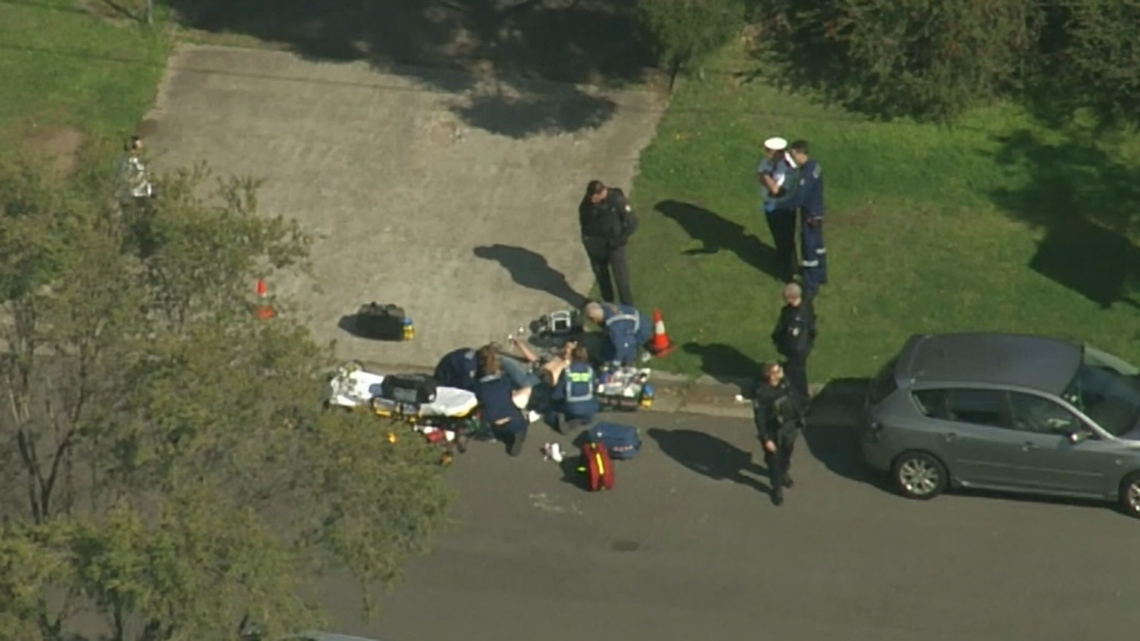 The man was taken to Liverpool Hospital for surgery. (9NEWS)