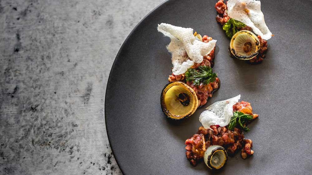 Charlie Carrington's Atlas Dining wagyu beef pho tartare
