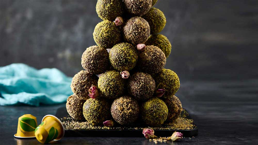 Darren Purchese's cafezinho do Basil brigadeiro (Brazilian coffee truffle tower)