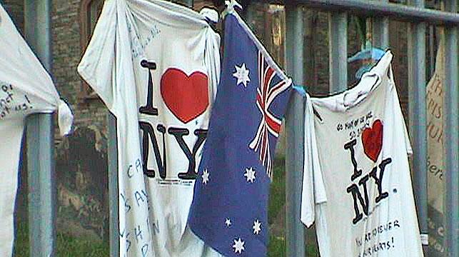 Ten Australians were among almost 3000 people killed in the 9/11 terrorist attacks. (AAP)
