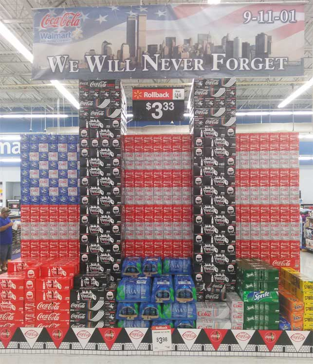 Walmart's removes Coke twin tower display