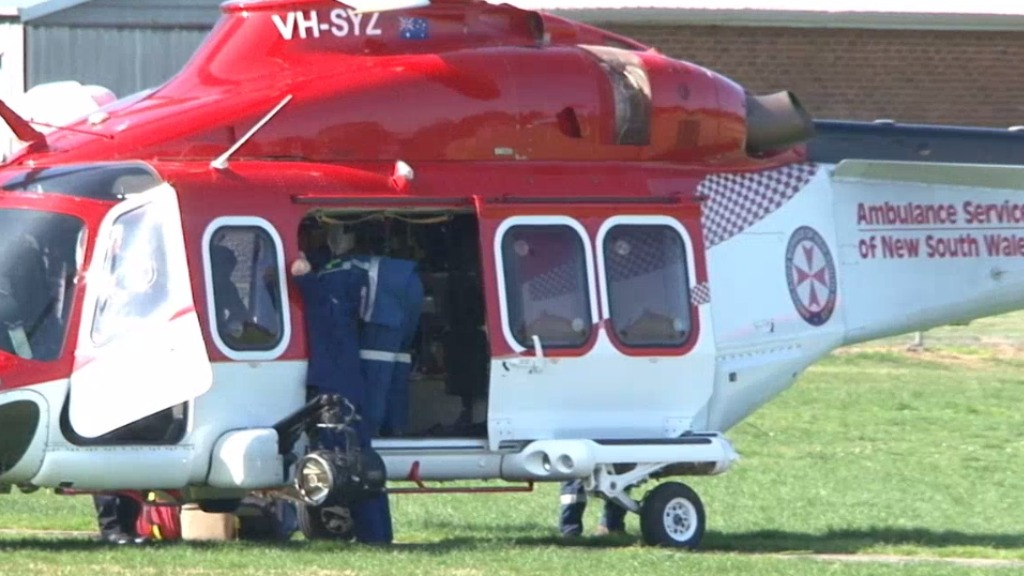 The student was airlifted to hospital in a serious but stable condition. (9NEWS)