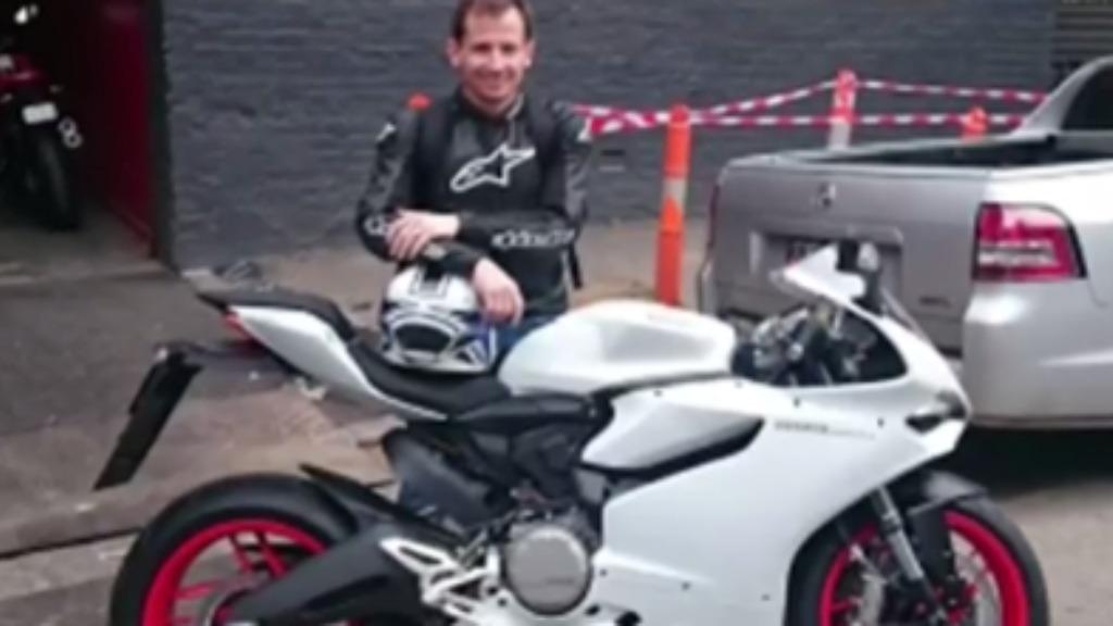 Warren Harrison's Ducati motorcycle was stolen earlier this week. (9NEWS)