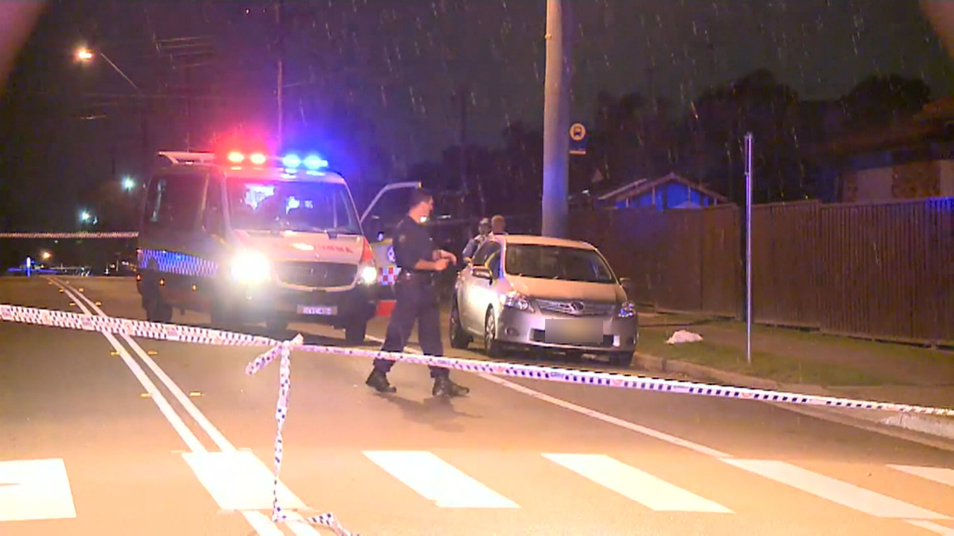 Police said an unknown vehicle was seen leaving the scene shortly after shots were heard. (9NEWS)