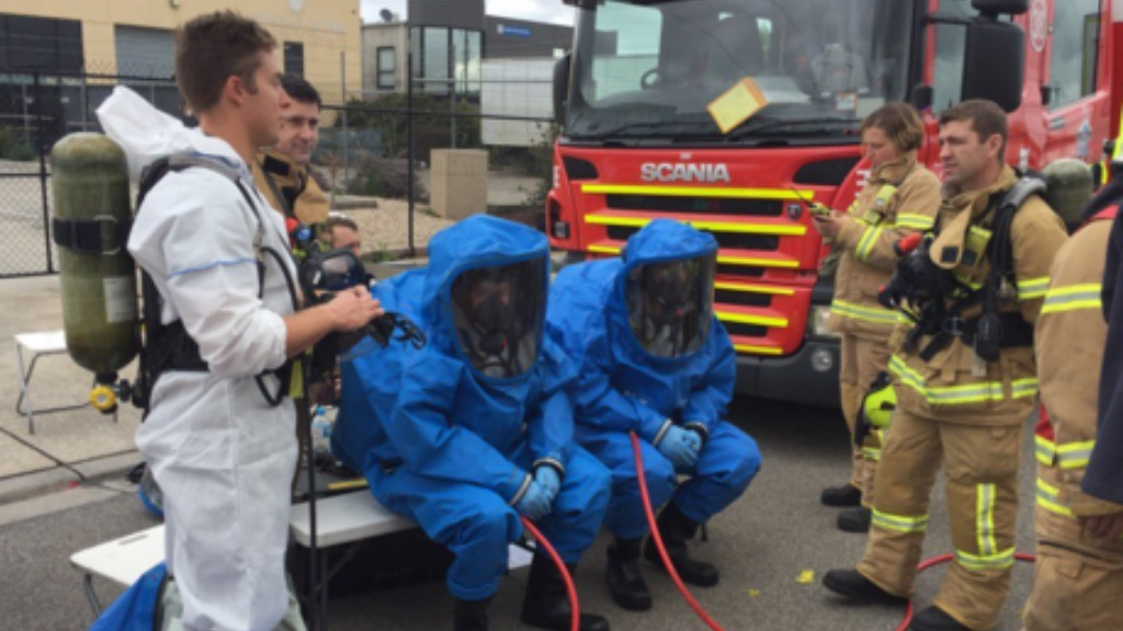 Four people evacuated after chemical spill at Melbourne factory
