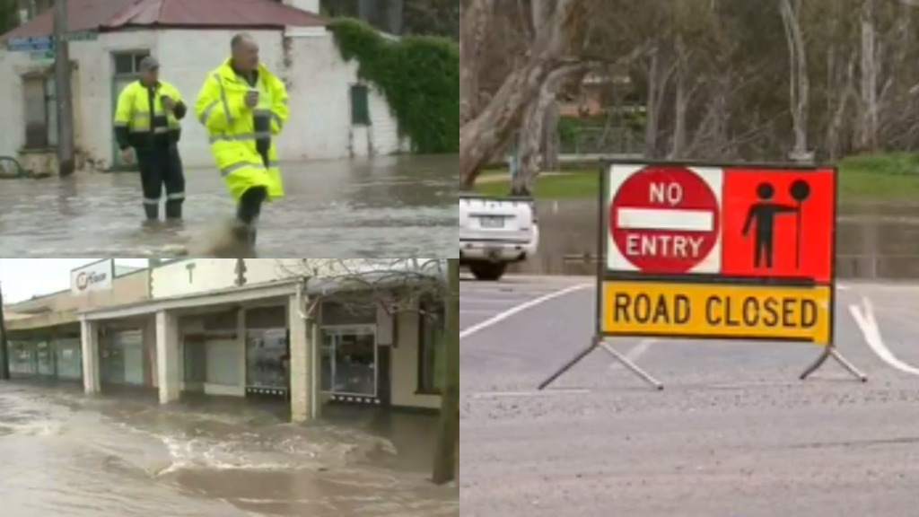 Residents in the Victorian town of Casterton are on high alert as flood waters levels continue to rise. (9NEWS)