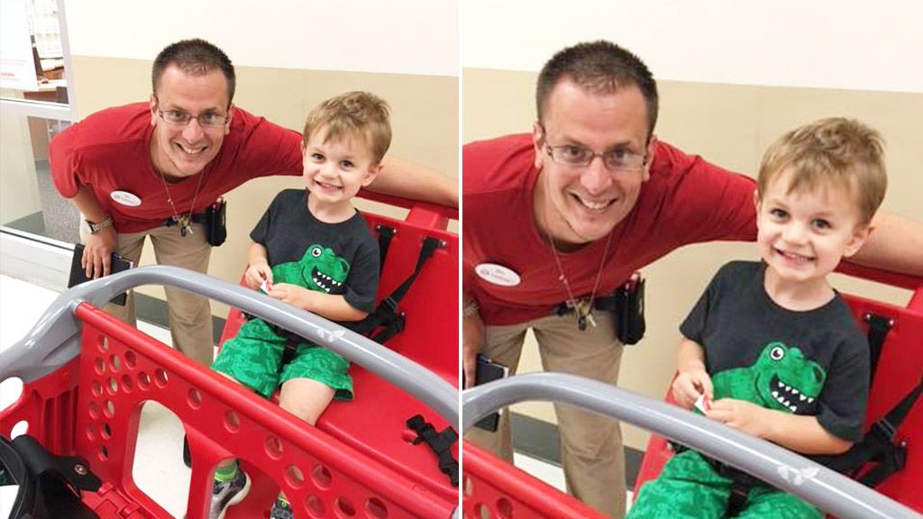 Father thanks shop assistant for calming 'cranky' son with stickers