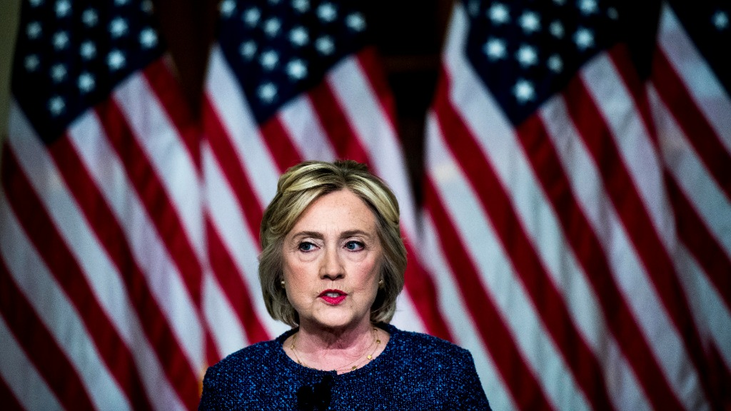 Mrs Clinton has defended her controversial statement. (Getty)