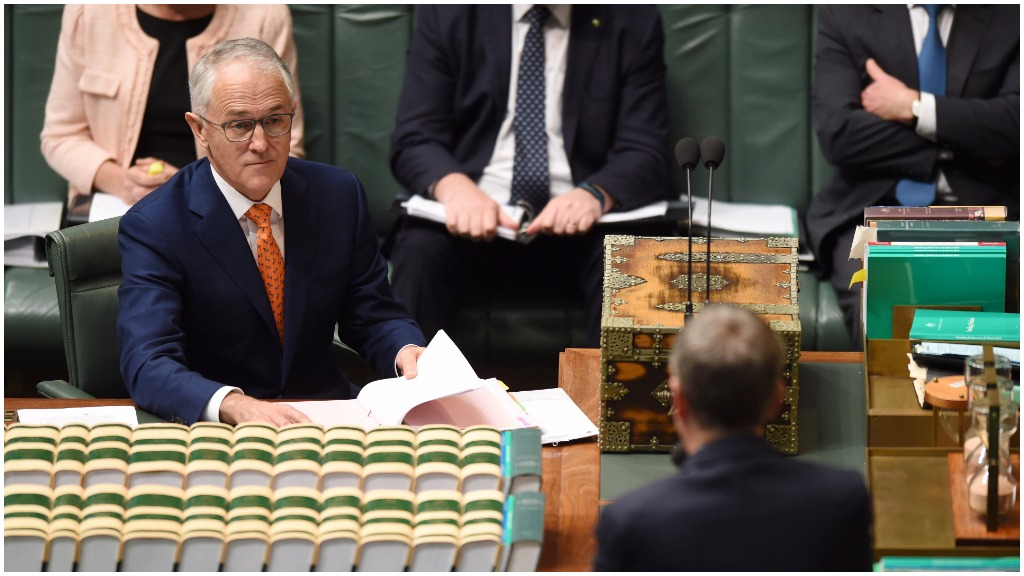 Prime Minister Malcolm Turnbull during Question Time today. (AAP)