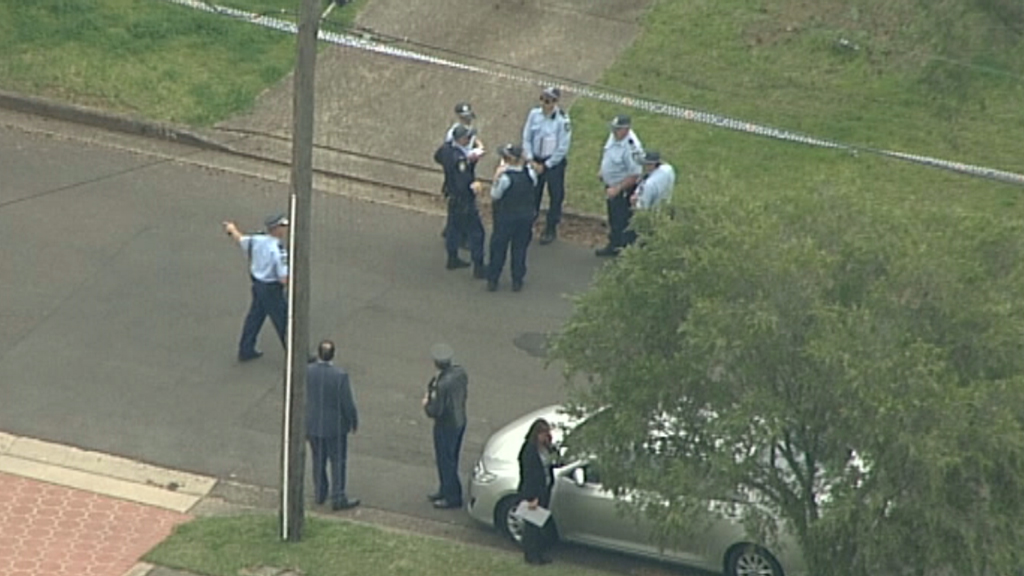 Police at the home today. (9NEWS)