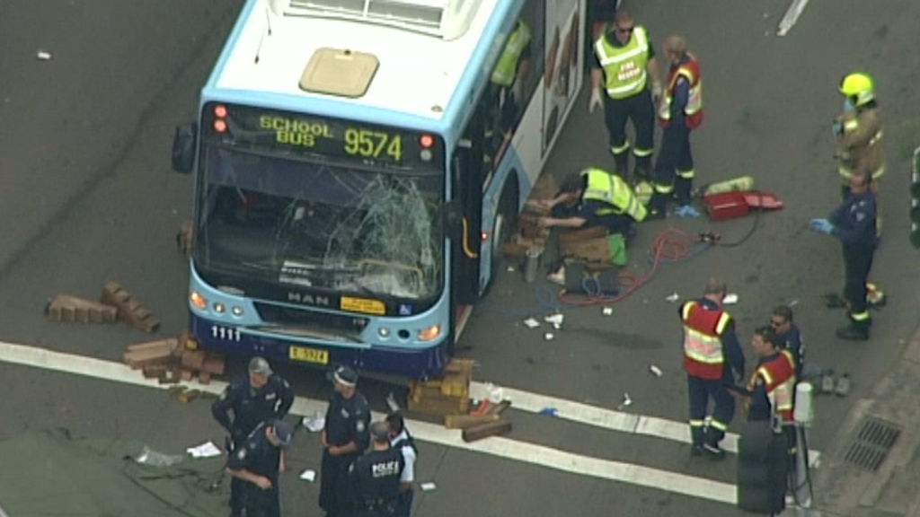 Man rushed to hospital after being hit by bus in Parramatta