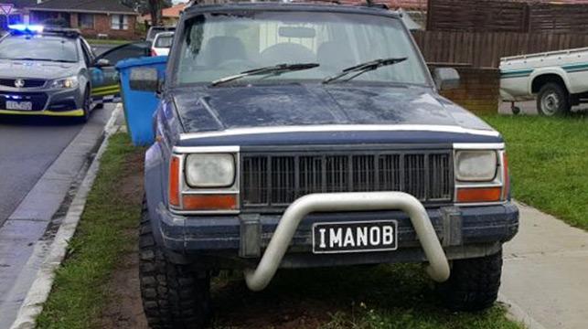 Why the fake plates? Because IMANOB