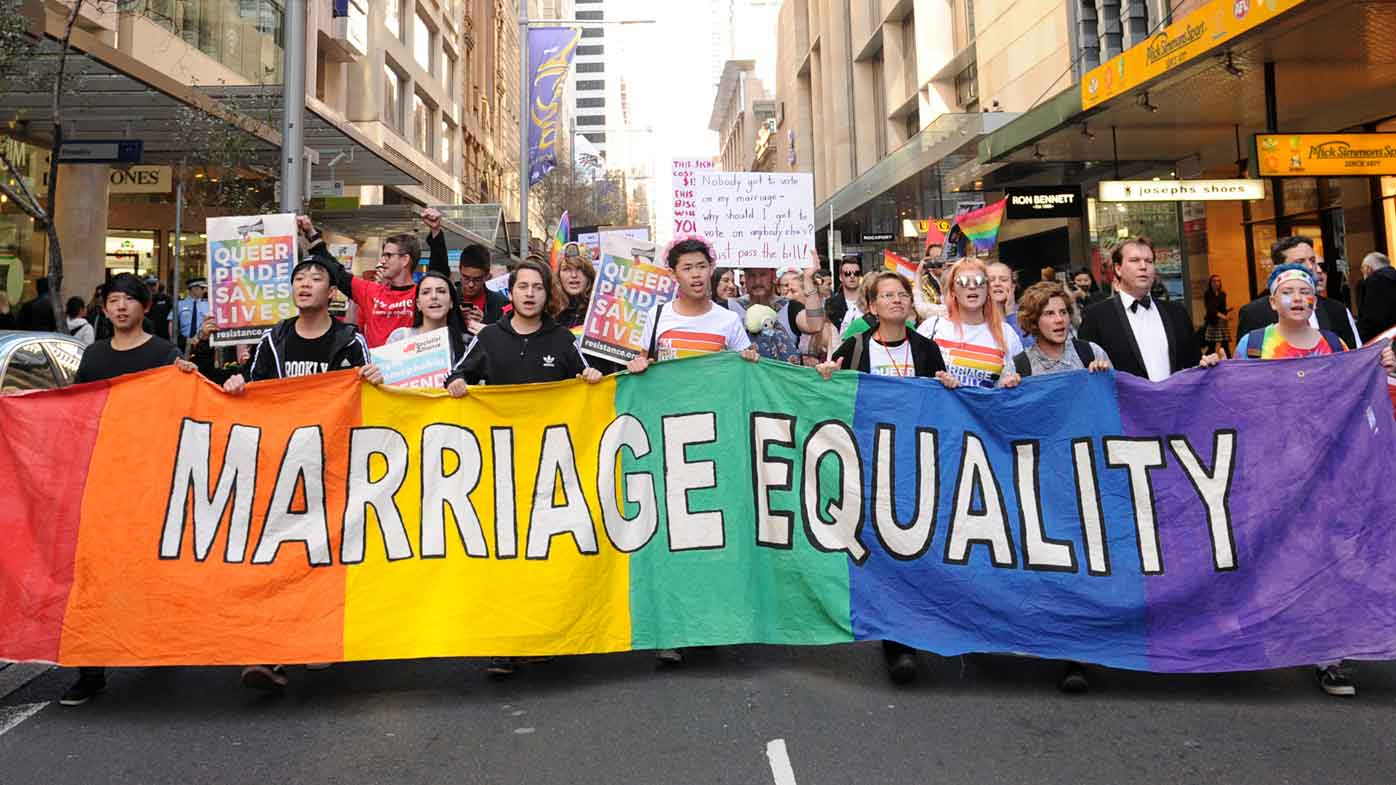 A marriage equality rally in Sydney last month. (AAP)