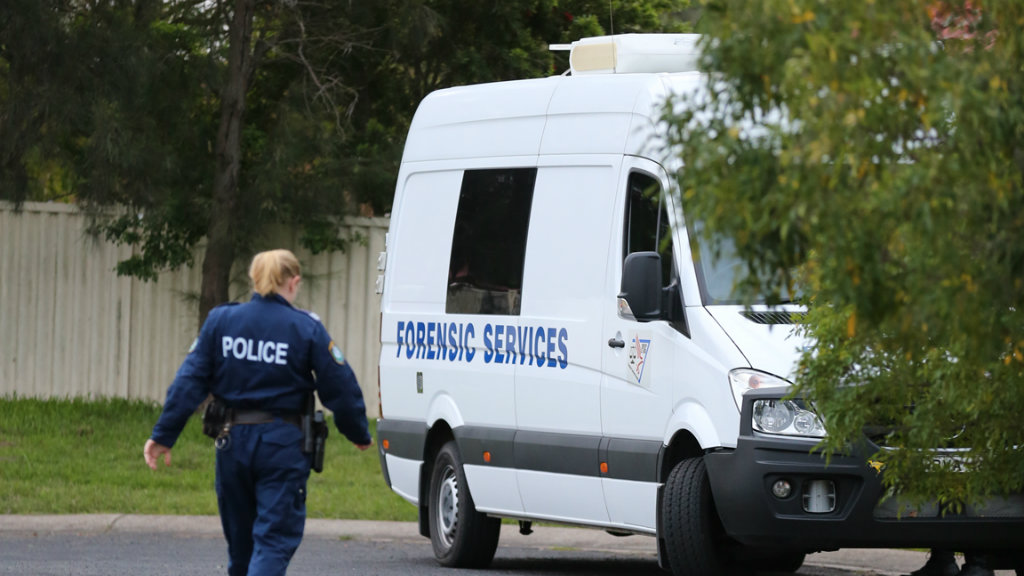 Police searched two properties today in their investigations into Ms McBride's death. (NSW Police)