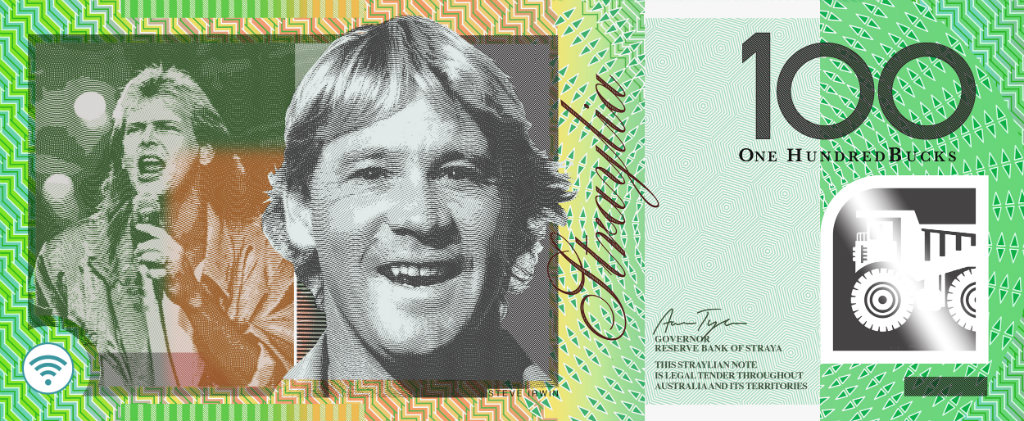 Artist Aaron Tyler created a series of imagined banknotes last year. (AAP)