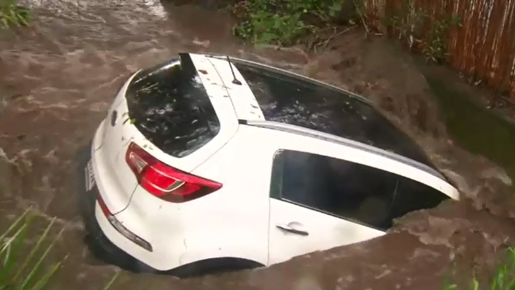 Flooding in the Adelaide region. (9NEWS)