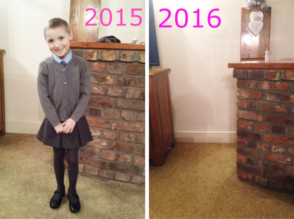 Mum shares devastating 'back-to-school' photos to raise awareness about childhood cancer