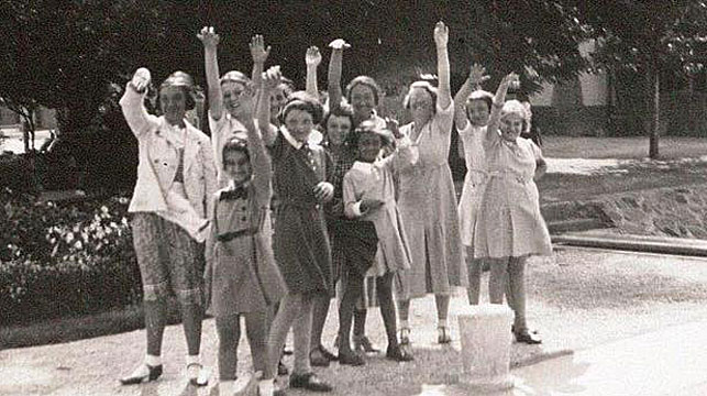 "Jane Haining and ""her"" girls. (Church of Scotland/Facebook)"