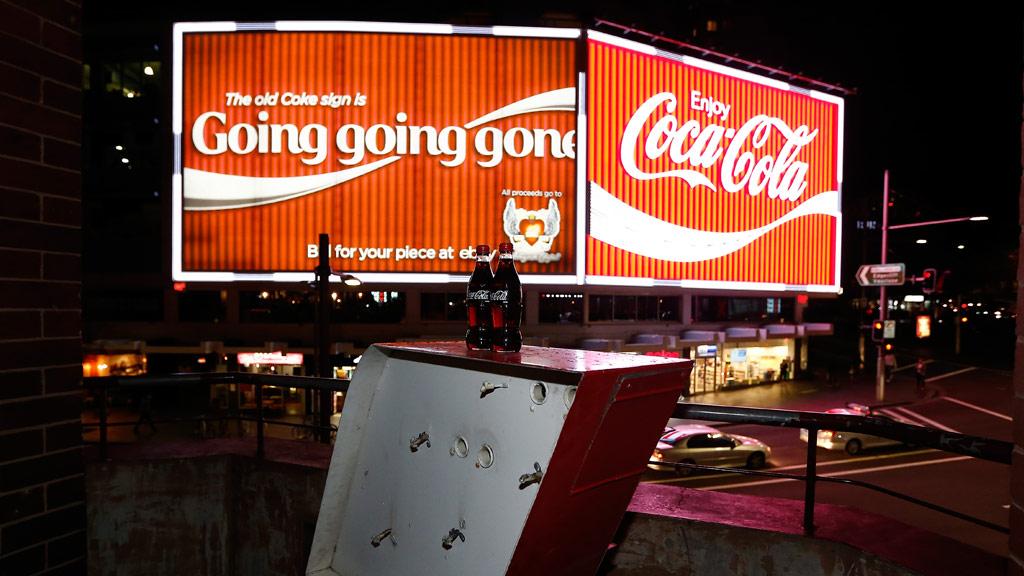 Kings Cross Coke sign lights up once more