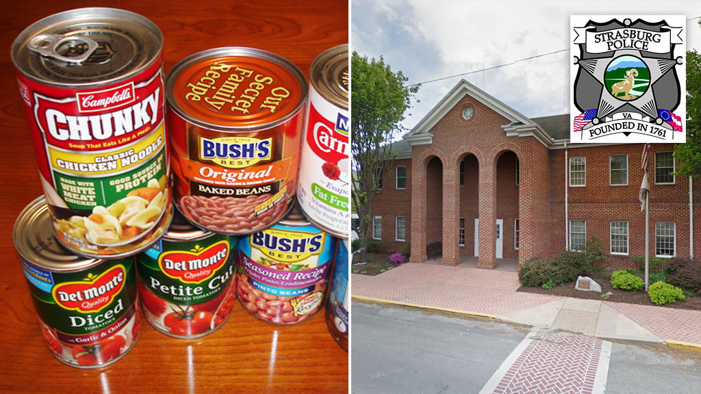 Town invites residents to pay parking tickets with canned food for charity
