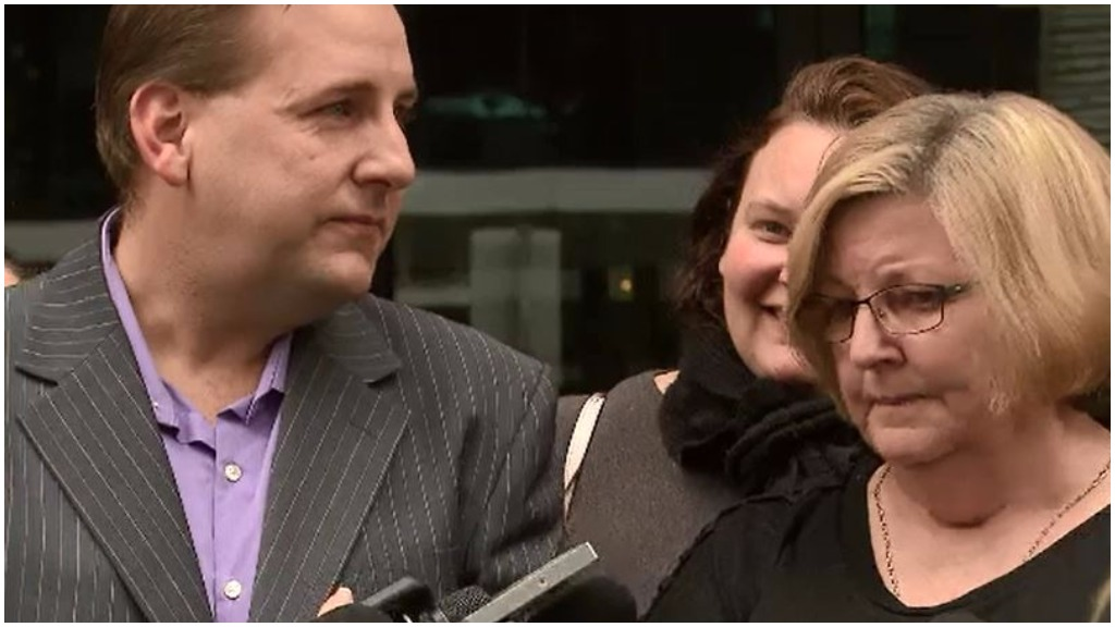 Ms Goudge's son Adam (left) and her sister, Susan McCormack. (9NEWS)