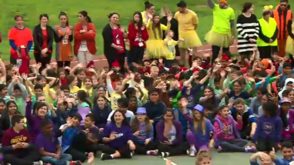 All colours of the rainbow were on display for Zach's special day. (9NEWS)