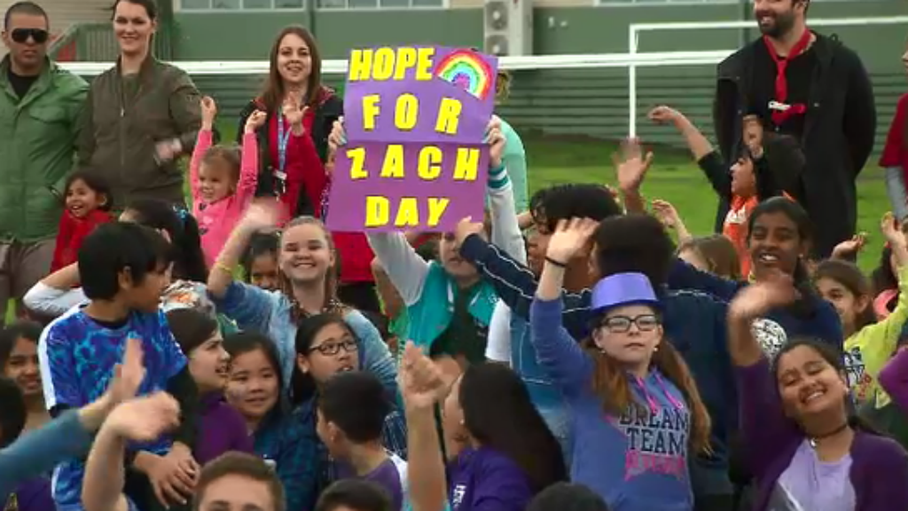 Hope for Zach Day was a school-wide event. (9NEWS)