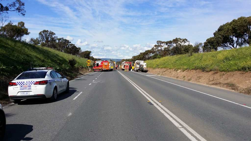 Motorist killed in horror crash involving truck and car south of Adelaide