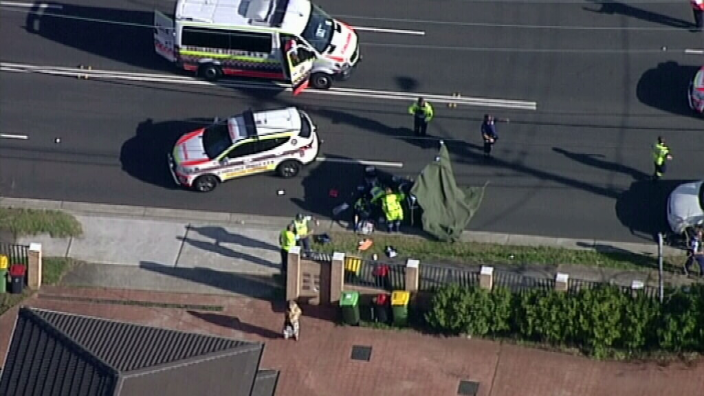 It's believed the child was crossing the road when he was struck. (9NEWS)