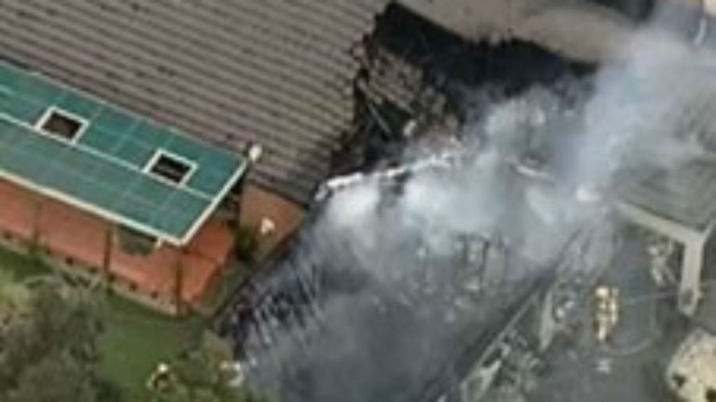 Man injured after home gutted by fire in Melbourne