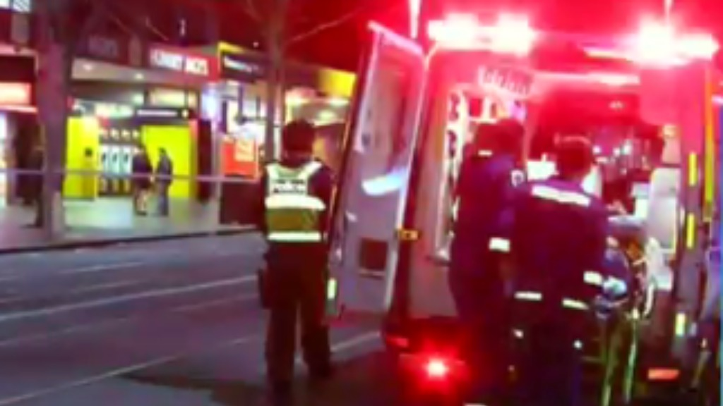 Four people were taken to hospital after the altercation. (9NEWS)