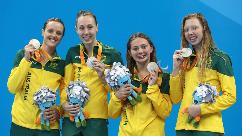 Rio Paralympics: Gold for Aussie women's 4X100 freestyle team
