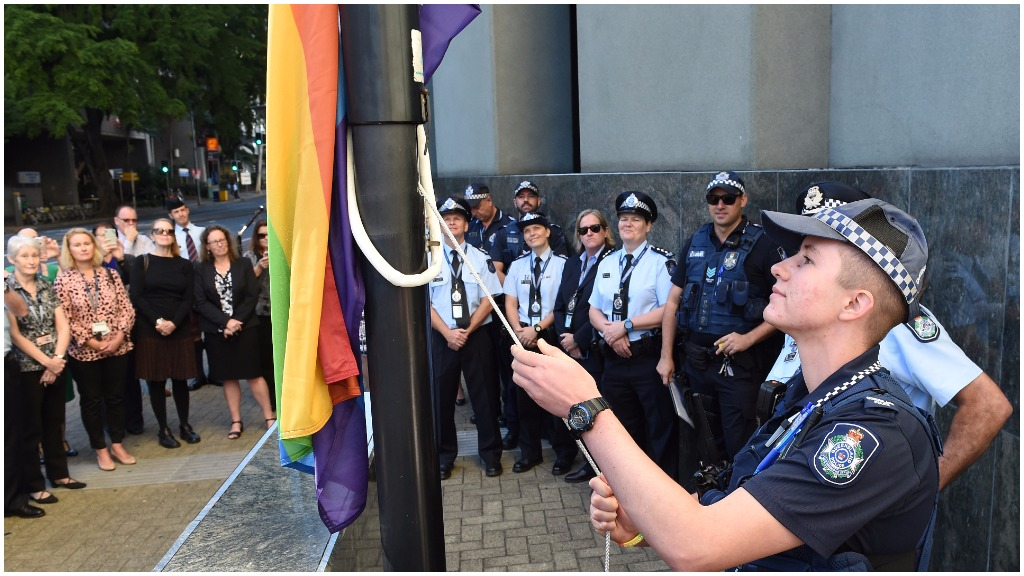 Thousands rally for Brisbane gay pride