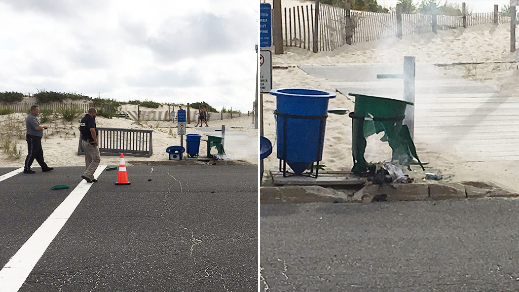 US Marine charity race cancelled after 'pipe bomb' explodes in rubbish bin