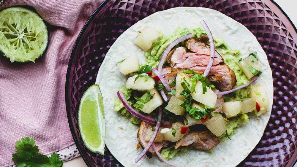 Spicy pork tacos with pineapple salsa