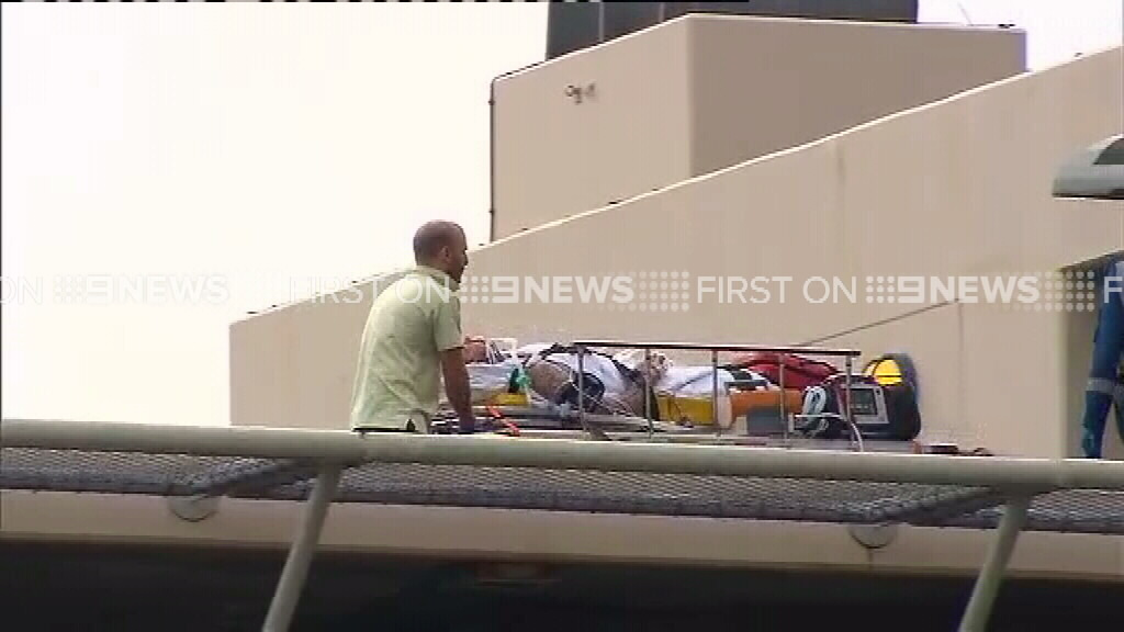The victim was airlifted to St George Hospital. (9NEWS)