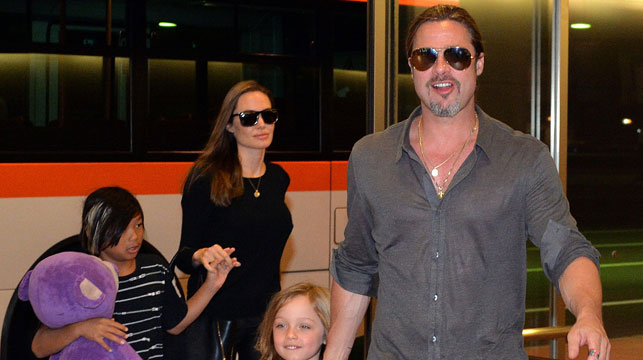 Brad Pitt, Angelina Jolie, and some of their children. (AFP file image)
