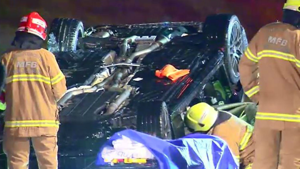 The driver suffered minor injuries. (9NEWS)
