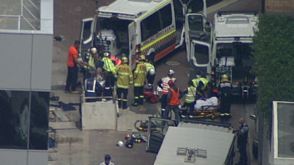 At least three people were treated for injuries at the scene. (9NEWS)