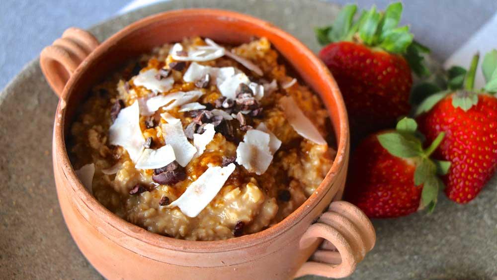 Kkäo Co. cacao-tea infused porridge