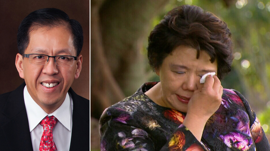 Curtis Cheng and his widow Selina Cheng. (9NEWS)